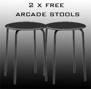 free arcade stools with the order